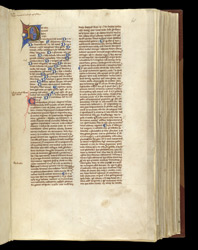 Illuminated Initial, In A Volume Of Works By St. Augustine And Others